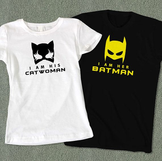 Couples T-Shirt: Catwoman and Batman