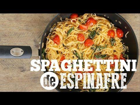 Spaghettini com ESPINAFRE e TOMATINHOS   Torrada FRESH 2016   Torrada Torrada