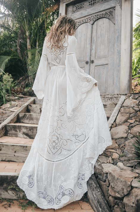spell designs – Gwyndolyn Wrap Gown | Size: 8 | Bridal Gown | Size 8 | Only $400.00