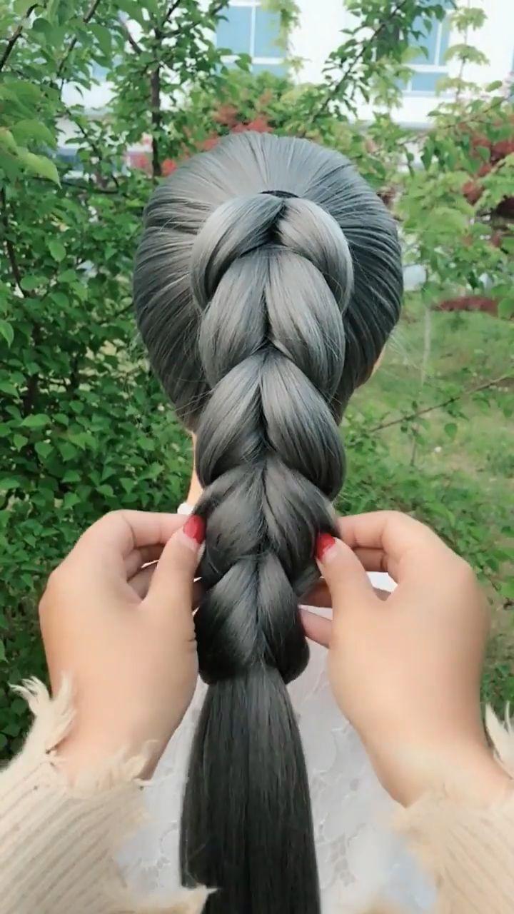 #LazyHairstyles #braid #hairstyles #tutorial #videos Braid Hairstyles Tutorial V…