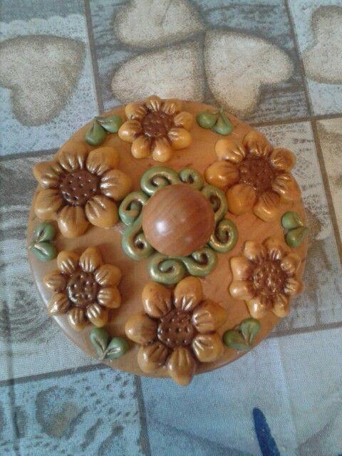 porcellana fredda coperchio decorato