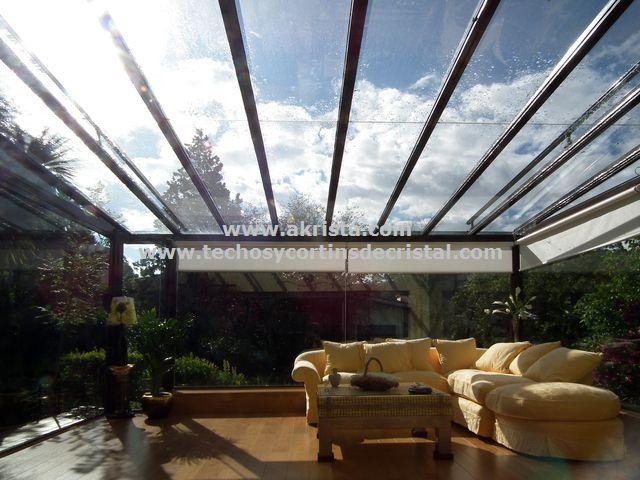 Cerramiento de terraza con techo de cristal cerramientos de terrazas pinterest - Techos de cristal para terrazas ...