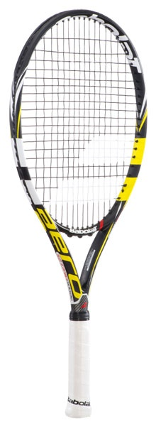 Babolat AeroPro Drive GT 25 Junior Tennis Racquet (2013).     At 26 in length, this junior version of Rafael Nadal's racquet of choice, the AeroPro Drive GT with Cortex, offers all of the same technology and provides many of the same characteristics as its larger adult version. This racquet is ideal for the more advanced junior player.  $139.00