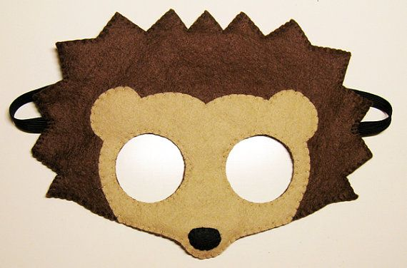 Hedgehog felt mask brown childrens animal costume от FeltFamily