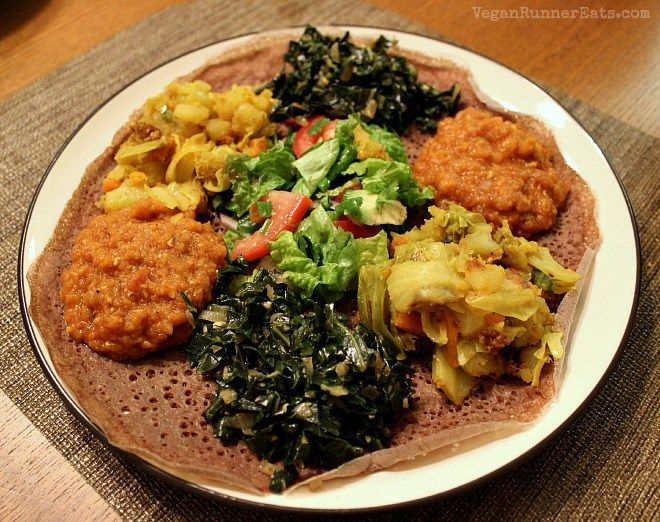Traditional ethiopian dinner from teff love a vegan for Authentic ethiopian cuisine