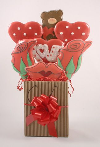 Valentine's Day Love Cookie Bouquet Delivery