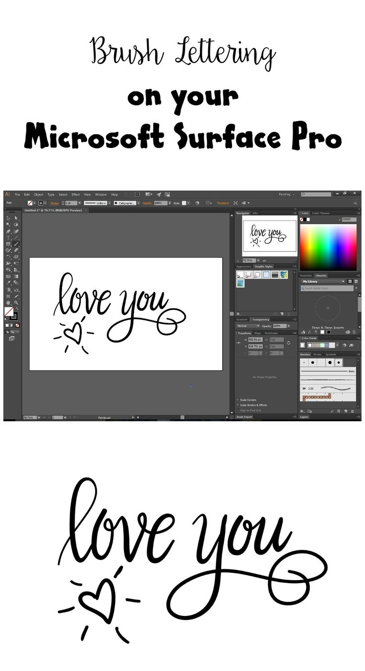 Hand Lettering on the Surface Pro - One Artsy Mama