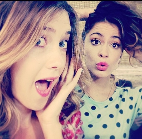Clara Alonso and Martina Stoessel #Violetta