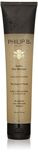 (Product review for PHILIP B Katira Hair Masque, 6 fl. oz.). Philip B katirahair masque is a gentle, yet surprisingly versatile rejuvenator for all hair types. The unique, clear-gel formula sinks right in to plump up fine, limp strands or calm and smooth coarse, hard-to-manage hair. By filling in dry, damaged spots in the cuticle, it also imparts a...