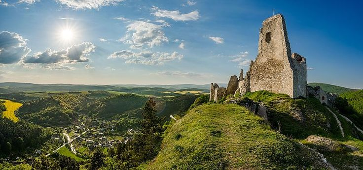 """Beginning photographer Vladimír Ruček likes to hike the mountains of his homeland, Slovakia, sleeping in """"a million-star hotel,"""" alone under the night sky. He photographed the old stone Čachtice Castle greeting the morning sun and took thirteenth place."""
