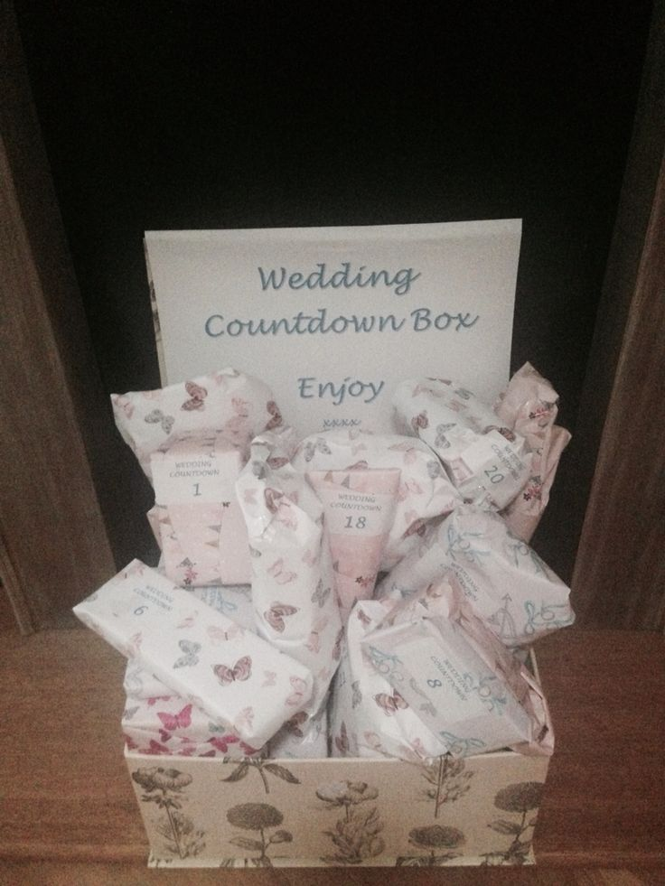 Advent Calendar Ideas Wedding : Wedding advent calendar gifts counting down to the big