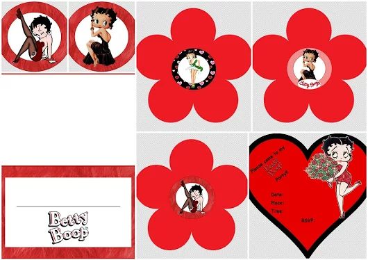 Mini Betty Boop Kit in Red for Free Print.
