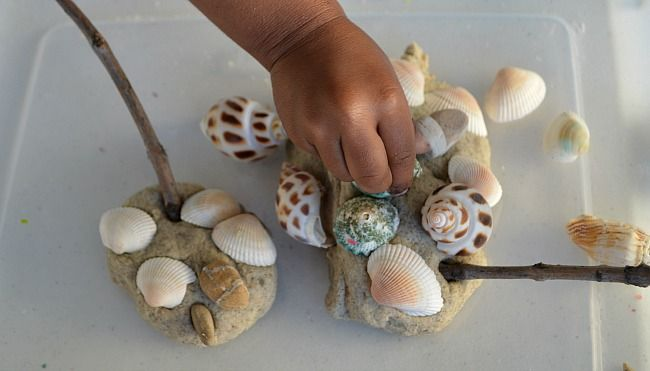 playing with shells
