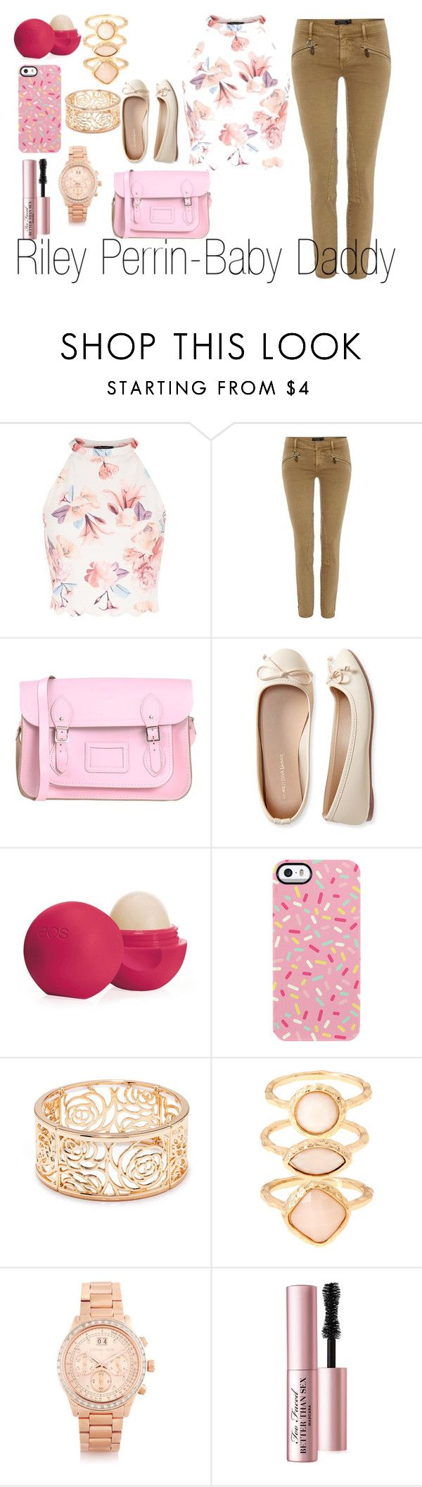 """""""Riley Perrin-Baby Daddy"""" by dailypopculture ❤ liked on Polyvore featuring Polo Ralph Lauren, The Cambridge Satchel Company, Aéropostale, Eos, Uncommon, Forever 21, Monsoon, Michael Kors and Too Faced Cosmetics"""