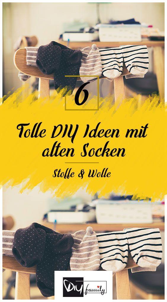 Upcycling – 6 tolle DIY-Ideen für eure alten Socken – #alten #DIYIdeen #eure #f…