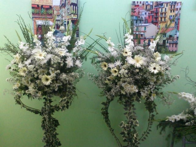 arreglos florales pedestal