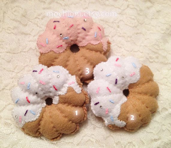 French curl donut dual clip by MochiOni on Etsy