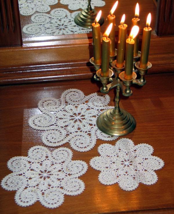 Advanced Embroidery Designs - FSL Battenberg Dancing Spiral Doily