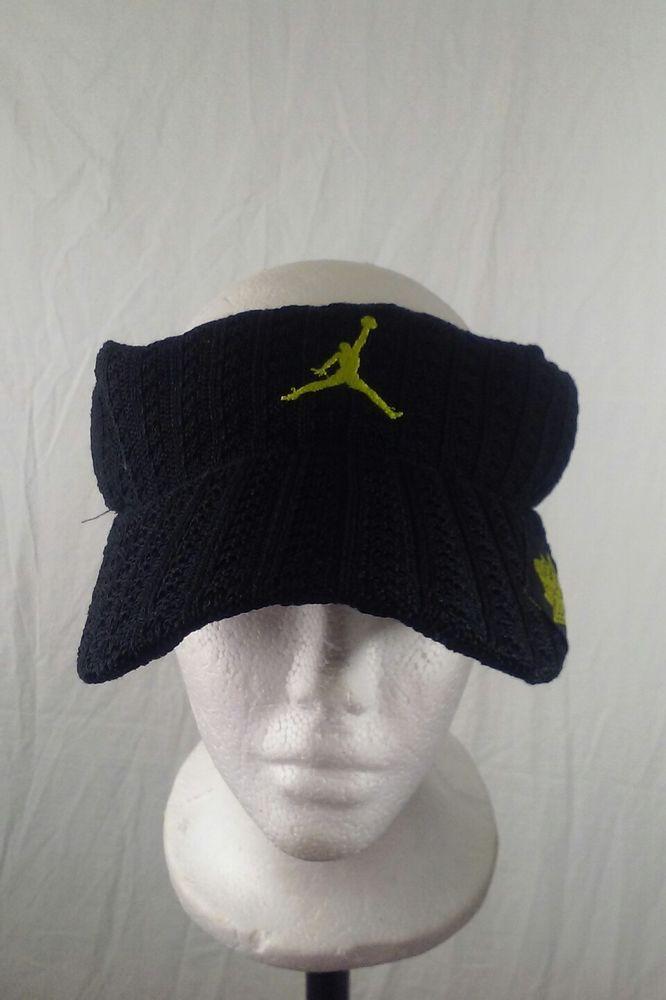 9a708c801065 Air Jordan Jumpman One Size Adjustable Black Sun Visor Hat Golf Tennis  Woven  Jordan  Visor  jumpman