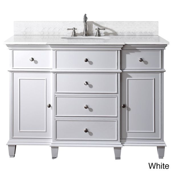 Gallery Website guest bathroom Avanity Windsor inch Single Vanity in White Finish with Sink and