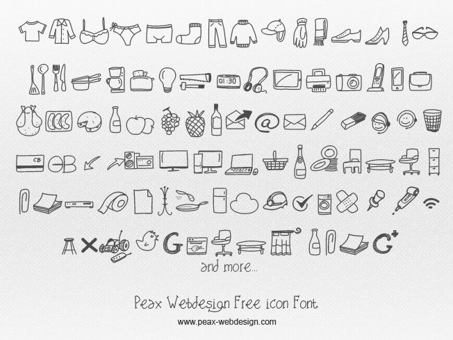 Peax Webdesign Free Icons | dafont.com