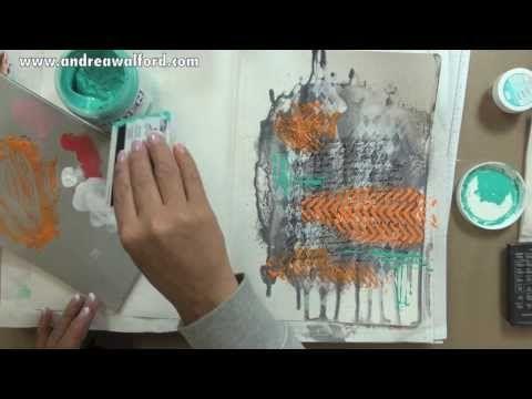"""Video Tutorial Art Journal Express #10: """"Persevere"""" Art Journal Page.   Supply list: http://andreawalforddesigns.com/art-journal-express-10-video-tutorial-persevere-art-journal-page/"""