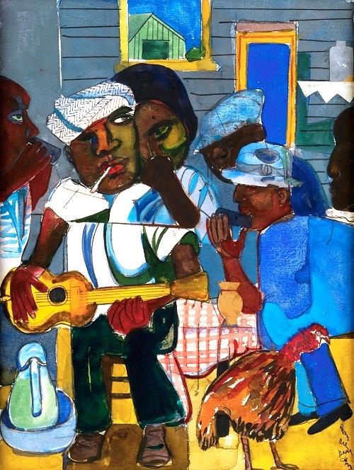 Romare Bearden's Train Whistle Blues -1979