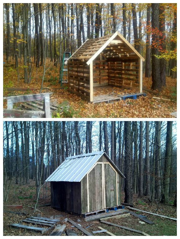 Pallet Shed #PalletShed, #RecycledPallet