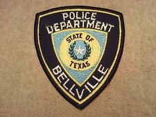Bellville Texas Police Patch