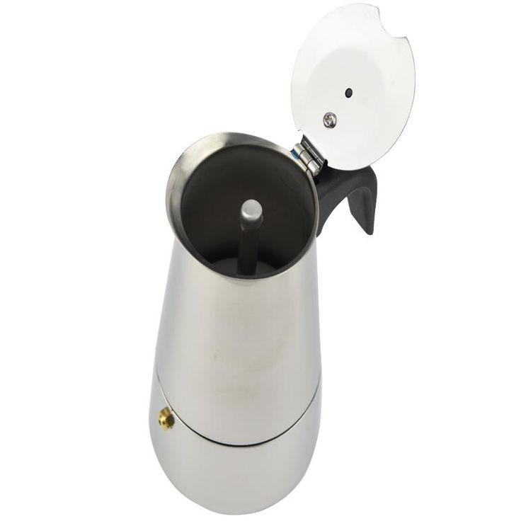 New 2/4/6/9 Cups Stainless Steel Coffee Maker Latte Percolator Moka Pot Espresso Cups Stove Top Espresso Pot
