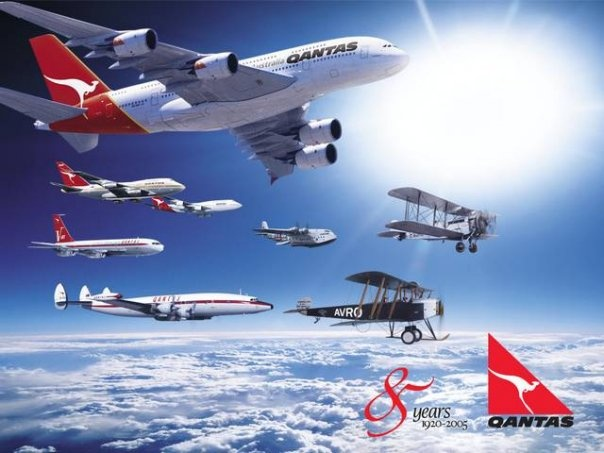 """Qantas Anniversary """"Fly By"""" with A380"""
