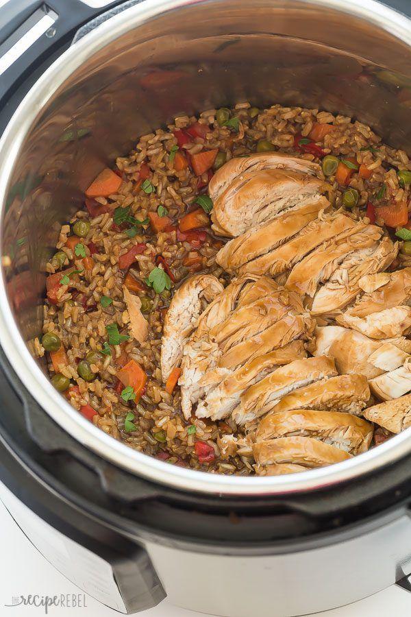 Instant Pot Teriyaki Chicken & Rice Recipe (pressure cooker)