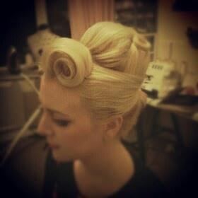 Blonde rockabilly hair