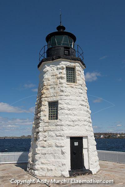 Goat Island Lighthouse, Newport, Rhode Island.