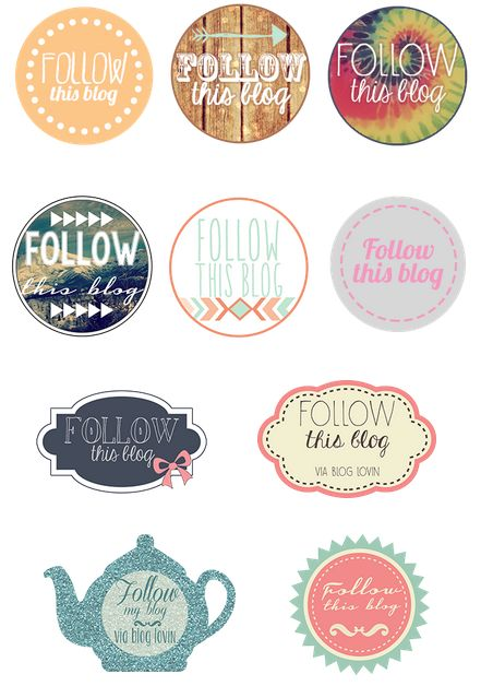 free follow my blog buttons