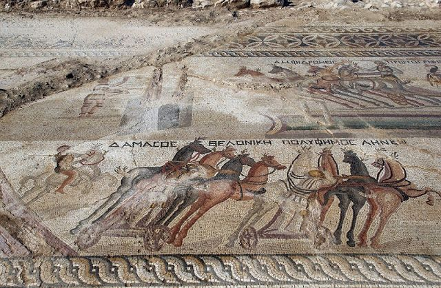 Τεράστιο εντυπωσιακό ψηφιδωτό αρματοδρομιών βρέθηκε στην Κύπρο (ΦΩΤΟ)