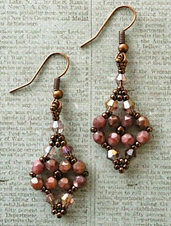 Linda's Crafty Inspirations: Printemps Earrings - Pink Coral Moon Dust