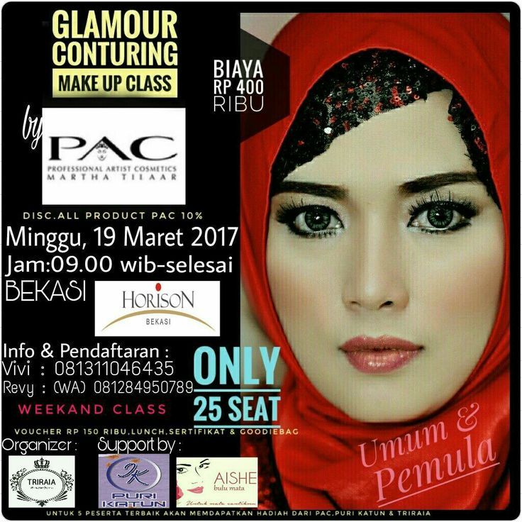 Conturing Make Up Class in Bekasi-West Java,Indonesia by PAC Cosmetics and support by AISHE eyelashe.