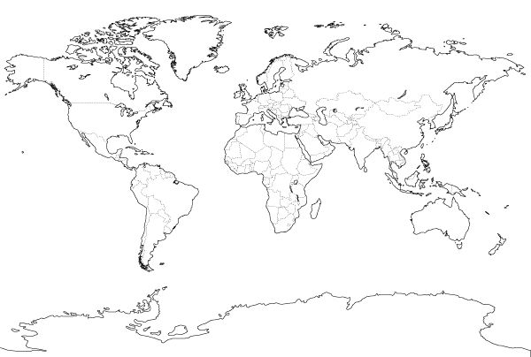 outline world map pdf and vector eps free download