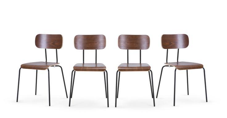 Les créations de la collection Haywood s'inspirent du design typique des salles de classe à l'anglaise.