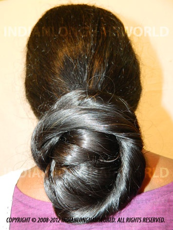 Long Hair Model of the Month October 2012. Darshana with her long, healthy & thick below thigh length hair in Beautiful Braided Bun