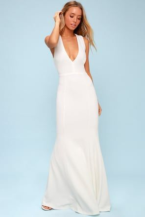 8f9c6c1479 Lulus | Forever and Always White Lace Maxi Dress | Size Small | 100 ...
