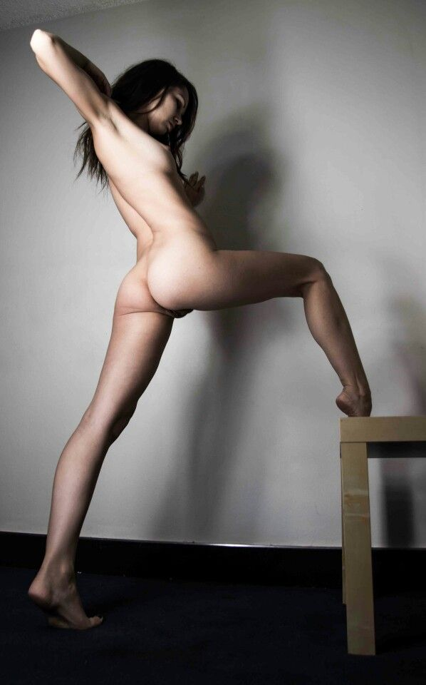Nude poses from behind happens