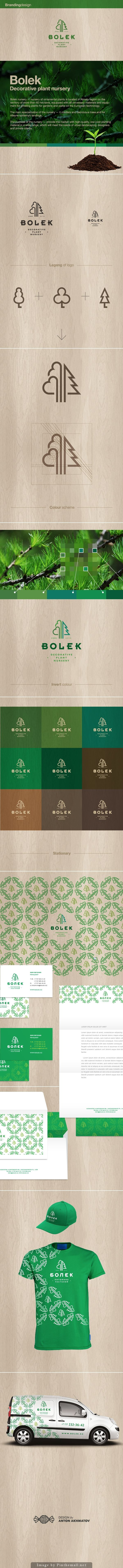 Bolek — decorative plant nursery. Very thorough identity, carefully thought out.