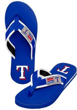 Texas Rangers Locker Label Contour Flip Flops