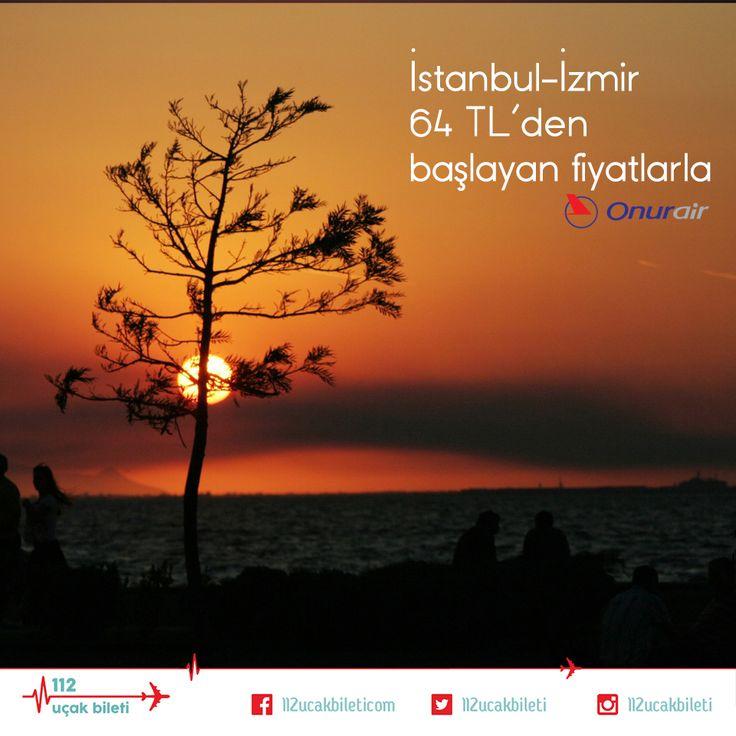 İzmir uçuşları 64 TL'den fiyatlarla. Siz siz olun bu yaz, Kordon'da gün batımının keyfini kaçırmayın. #İzmir