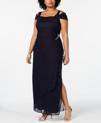 43eeaec189df Plus Size Embellished Cold-Shoulder Gown in 2019 | Wedding | Cold ...