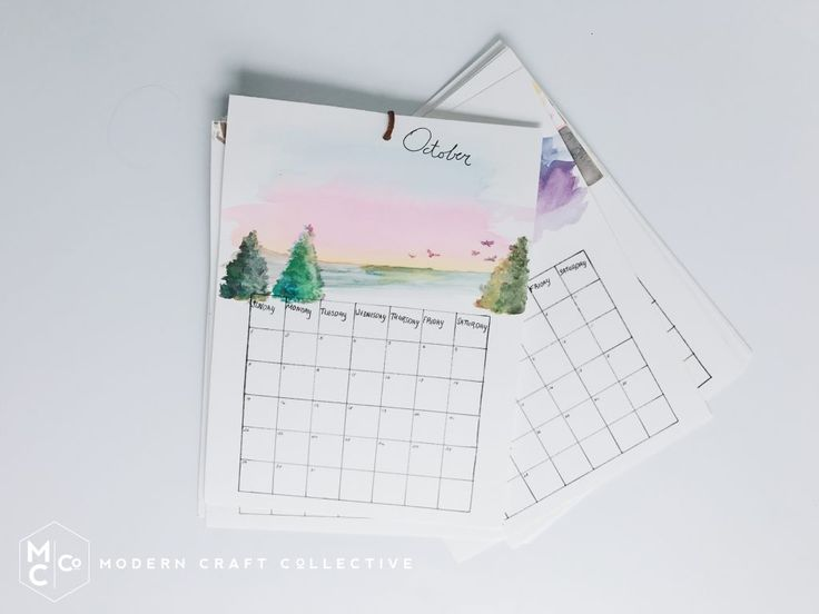 Watercolor Calendar / Modern Craft Collective