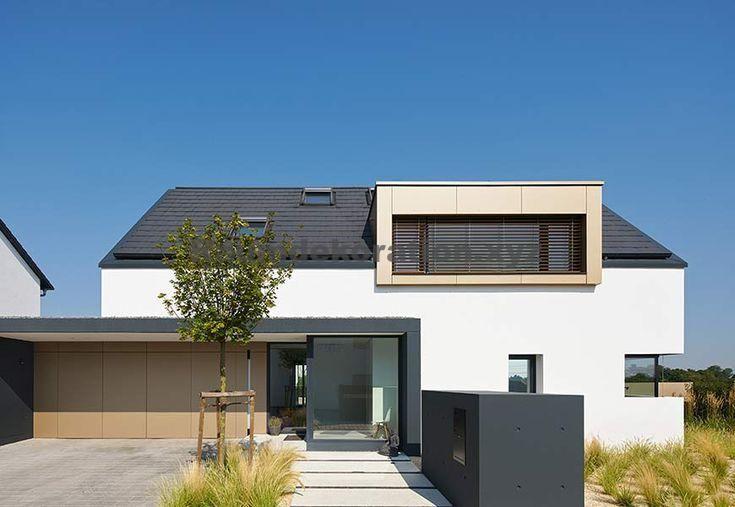 Architektur Ideen – Neubau eines Einfamilienwohnhauses mit Doppelgarage