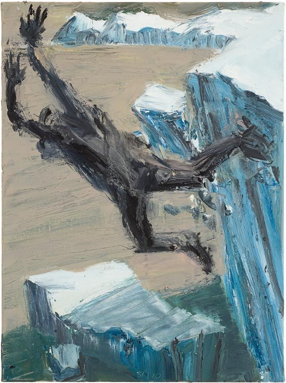 Euan Macleod (b. 1956, Christchurch, New Zealand) - Antarctic 38, 2010 Paintings: Acrylics on Canvas from Glacial exhibition